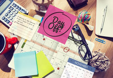 Freizeit des freien Tages entspannen sich Ferien-Feiertags-Zeitplan-Konzept Stockbilder