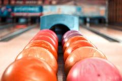 Freizeit im Bowlingspielverein Lizenzfreies Stockbild