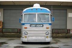 Freizeitfahrzeug mit lustiger Mitteilung Lizenzfreie Stockfotos