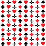 Freizeitkartensymbole. Nahtloses abstraktes Muster. lizenzfreie abbildung