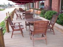 Freizeitstühle und -tabelle Lizenzfreies Stockbild