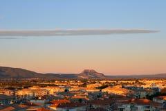 Frejus, FRANÇA A cidade de Frejus um Riviera francês durante o sunri Fotografia de Stock