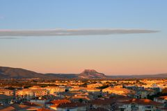 Frejus, FRANCE. The city of Frejus a French Riviera during sunri Stock Photography