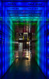Frekvensspökbild: blått som ska göras grön Arkivbild