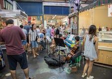 Fremantle市场:音乐家庭 图库摄影