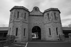 Fremantle监狱大门 库存照片