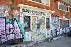Fremantle,西澳州:街道画透视 免版税库存图片