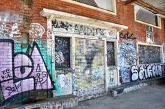 Fremantle, δυτική Αυστραλία: Προοπτικές γκράφιτι Στοκ εικόνες με δικαίωμα ελεύθερης χρήσης