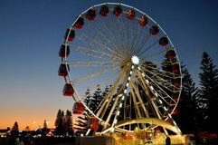 Fremantle Ferris Wheel at Twilight Stock Image