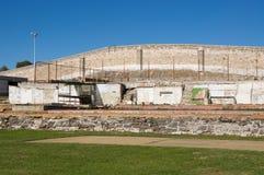 Fremantle fängelse: Kalkstengård Fotografering för Bildbyråer
