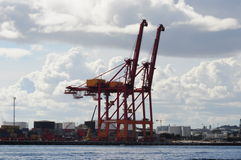 Fremantle Harbour Port Perth Western Australia Loading Crane Royalty Free Stock Images