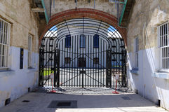 Fremantle old prison. Entrance gate to the  Fremantle prison in Western Australia Royalty Free Stock Photography