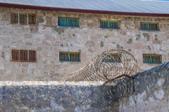 Fremantle Prison: Twisted Razor Wire Royalty Free Stock Images