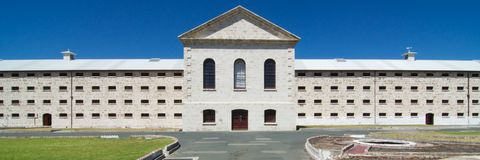 Fremantle Prison, Western Australia. Fremantle Prison is a former Australian prison on The Terrace, Fremantle, in Western Australia. The 6-hectare site includes Stock Images