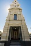 FREMANTLE VÄSTRA AUSTRALIEN - November 16, 2014 - sikt av det Fremantle Townhall Klocka tornet arkivfoton