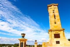 Fremantle war memorial on a blue bird day. Perth Western Australia Stock Photos