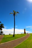 Fremantle war memorial on a blue bird day stock image