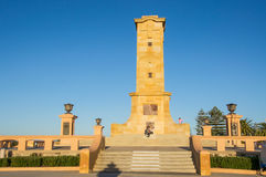 Fremantle War Memorial. FREMANTLE,WA,AUSTRALIA-JUNE 25,2016: Fremantle Fallen Sailors and Soldiers War Memorial with tourists at Monument Hill in Fremantle Royalty Free Stock Photos