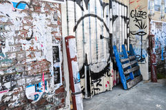 Fremantle, West-Australien: Etikettieren und Graffiti Lizenzfreie Stockfotos