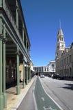 FREMANTLE, WEST-AUSTRALIEN - 16. November 2014 - Ansicht von Fremantle Townhall im Herzen der Fremantle-Stadt Lizenzfreies Stockbild