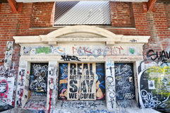 Fremantle, Western Australia: Vandalism royalty free stock images
