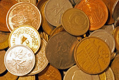 Fremde Münzen Lizenzfreie Stockfotografie