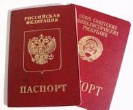 Fremde Pässe von Russland und von UDSSR Stockbild