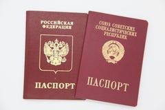 Fremde Pässe von Russland und von UDSSR Lizenzfreie Stockfotografie