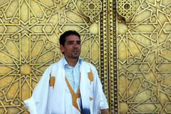 Fremdenführer im Land von Marokko Stockfoto