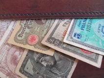 Fremdes Bargeld lizenzfreies stockbild