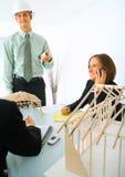 Fremdfirma in der Sitzung Stockfoto
