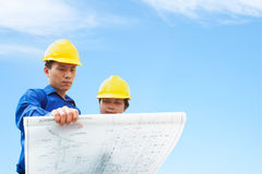 Fremdfirmaholding-Gebäudeplan Stockfotografie