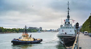 FREMM Languedoc Montreal ports visits Royalty Free Stock Photography