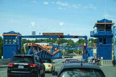 Fremont-Brücken-Öffnung Stockfotos