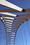 Fremont Bridge. Interesting shot of the Fremont Bridge in Portland, Oregon Royalty Free Stock Photo