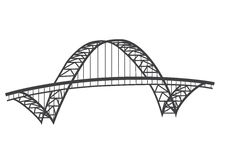 Fremont bridge drawing vector illustration