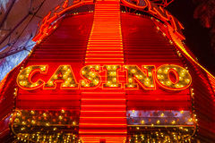 Fremont Casino Neon lights at Downtown Las Vegas - LAS VEGAS - NEVADA - APRIL 23, 2017. Fremont Casino Neon lights at Downtown Las Vegas - LAS VEGAS - NEVADA Royalty Free Stock Images