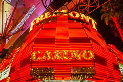 Fremont Casino Neon lights at Downtown Las Vegas - LAS VEGAS - NEVADA - APRIL 23, 2017. Fremont Casino Neon lights at Downtown Las Vegas - LAS VEGAS - NEVADA Stock Photo