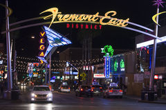 Fremont East district in Las Vegas Stock Photo