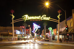 Fremont East District, Las Vegas, USA Royalty Free Stock Image