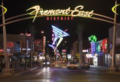 Fremont East Night Royalty Free Stock Photos