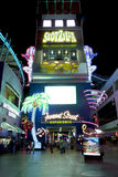 Fremont gata - Las Vegas, Nevada Arkivbild
