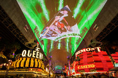 Fremont gataerfarenhet i Las Vegas Royaltyfria Bilder