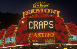 The Fremont Hotel and Casino at night, Downtown Las Vegas, NV Stock Photography