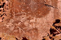 Fremont Indian State Park Petroglyphs Stock Photo