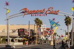 Fremont orientale firma dentro Las Vegas, NV il 21 aprile 2013 Fotografia Stock Libera da Diritti