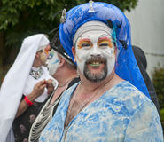 Fremont parade. SEATTLE, WA - JUNE 16, 2012: A member of the Sisters of Perpetual Indulgence participates the annual Fremont Summer Solstice Day Parade on June Royalty Free Stock Image