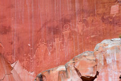 Fremont Petroglyphs in Capitol Reef stock photos