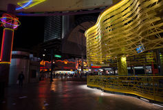 Fremont Street is Always Busy Royalty Free Stock Photography