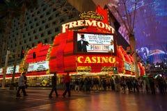 Fremont Street Casino Vegas. LAS VEGAS, NEVADA - MAY 7, 2014: Historic Fremont Street Hotel and Casino in downtown Las Vegas. This Vegas landmark was opened in royalty free stock photo